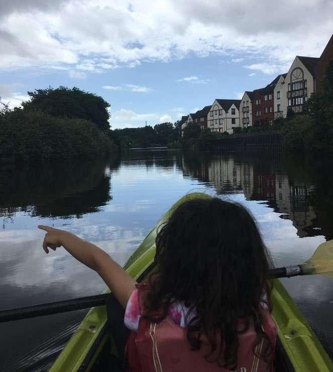 Exeter quay kayak child family